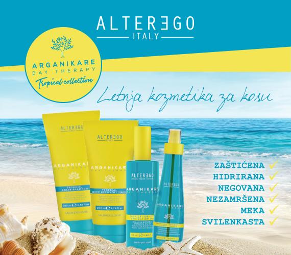Letnja kozmetika za kosu – Alter Ego Arganikare Day Therapy
