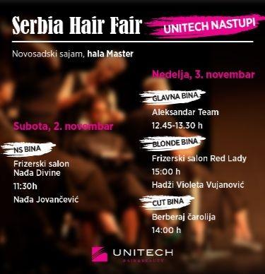 Unitech – srebrni sponzor Serbia Hair Fair
